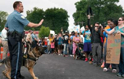 Missouri Town Erupts in Protest After Police Shoot Unarmed Black Teenager