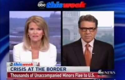ABC Host Schools Rick Perry on the Real Reasons for the Migrant Children Crisis