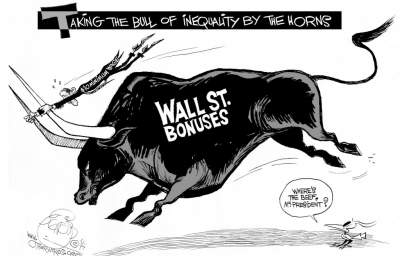 Wall Street Bonuses vs. the Minimum Wage